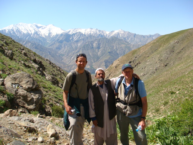 Glen hiking in Afghanistan with another outdoor lover, Tom Little